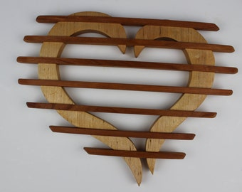Wild Heart Trivet in Maple and Cherry