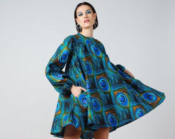 Kia Dress- ankara print african print dutch wax cotton printed dress