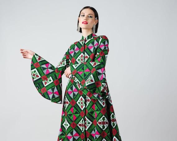 Christene Dress- ankara print african print dutch wax cotton shirt dress