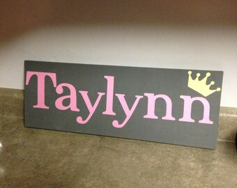 Personalized Girl's Name Sign