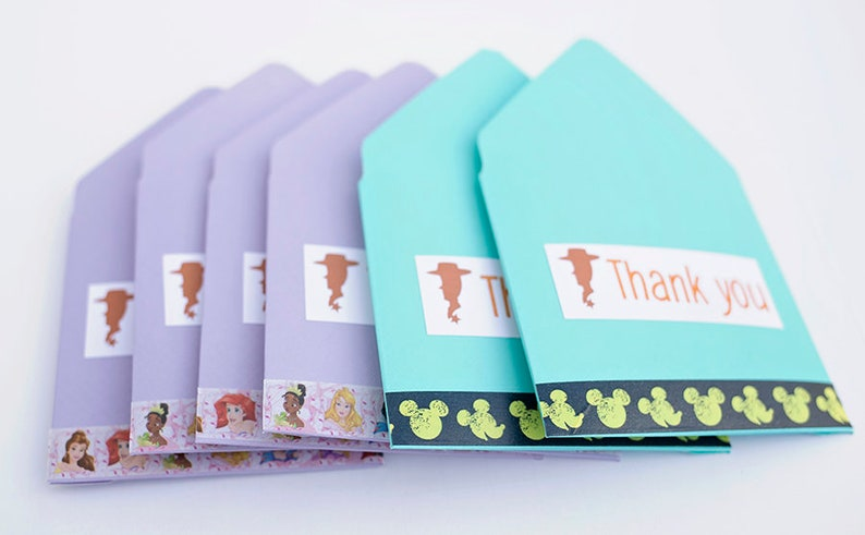 housekeeping tip envelopes party favor travel agent gift Aqua and Purple Thank you Envelopes gift card envelope small envelopes