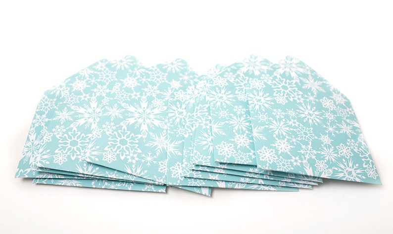 travel agent gift small envelopes party favor tip envelopes gift card envelope Snowflake Envelopes housekeeping thank you