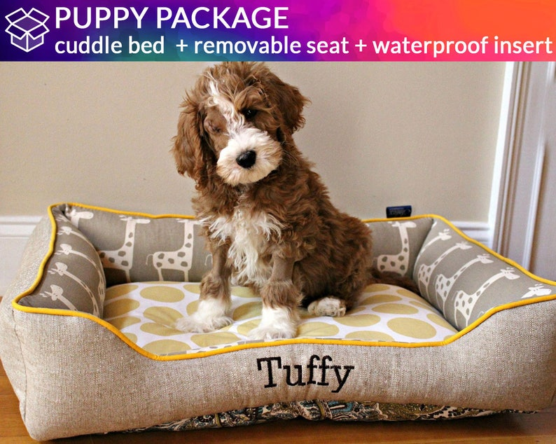 Puppy Dog Bed Waterproof Insert Covers and Removable Seat  image 0