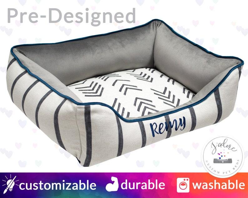 Modern Dog Bed Personalized Cat Bed  Boho Bohemian Mud image 0