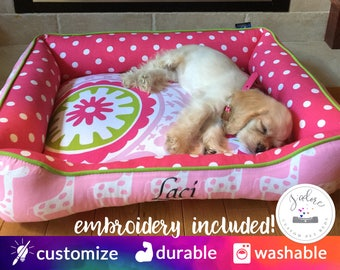Custom Pet Bedding | Dog Bed or Cat Bed | Medium Dog Bed | Modern, Fun and Designed by You! High Quality & Handmade