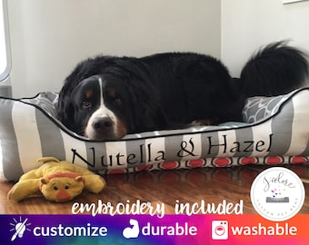 X-Large Dog Bed | Bolster Dog Bed | You Design it, we Create it!