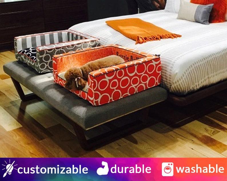 Modern Dog Bed or Cat Bed  Bolster Washable Designer image 0