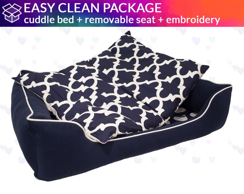 Washable and easy to clean Removable Seat Cushion Dog Bed 6 Different Looks One Bed