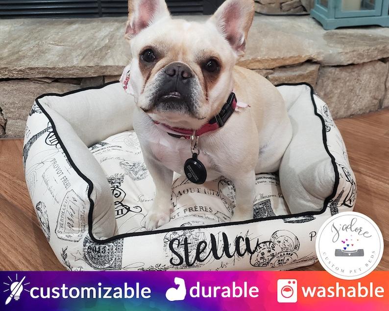 French Dog Bed Custom  Choose Your Fabrics  French Bulldog image 0