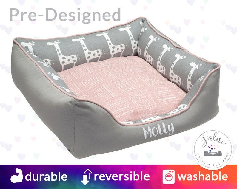 Cute Dog Bed Blush Pink Grey  Feminine dog bed girly dog image 0