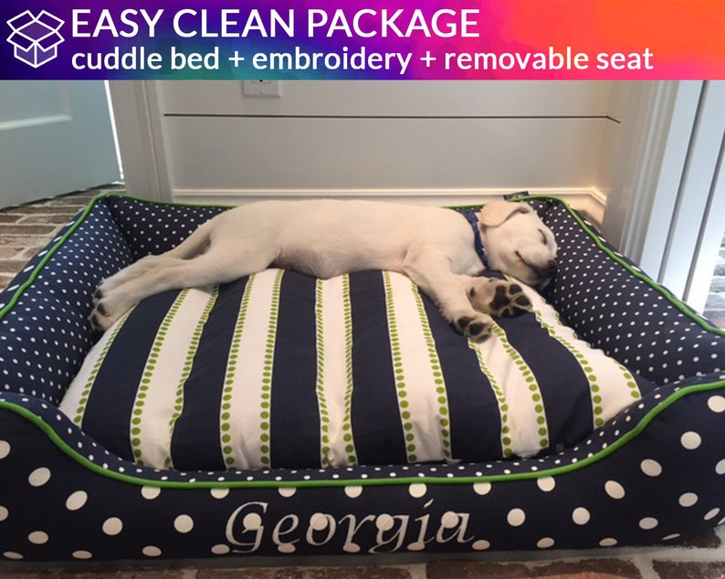 Bolster Dog Bed with Removable Seat  Washable & Easy to image 0