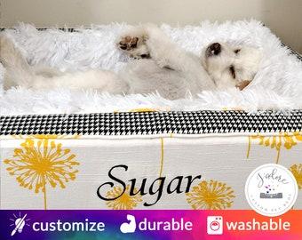 luxury dog bed custom dog beds personalized dog lover gift washable dandelion cheerful