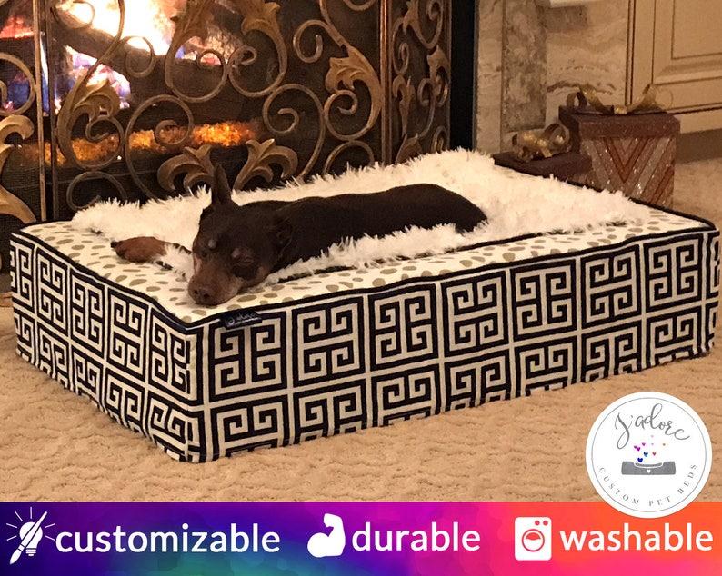 Luxurious Dog Bed or Luxury Cat Bed  Custom Choose Fabrics  image 0