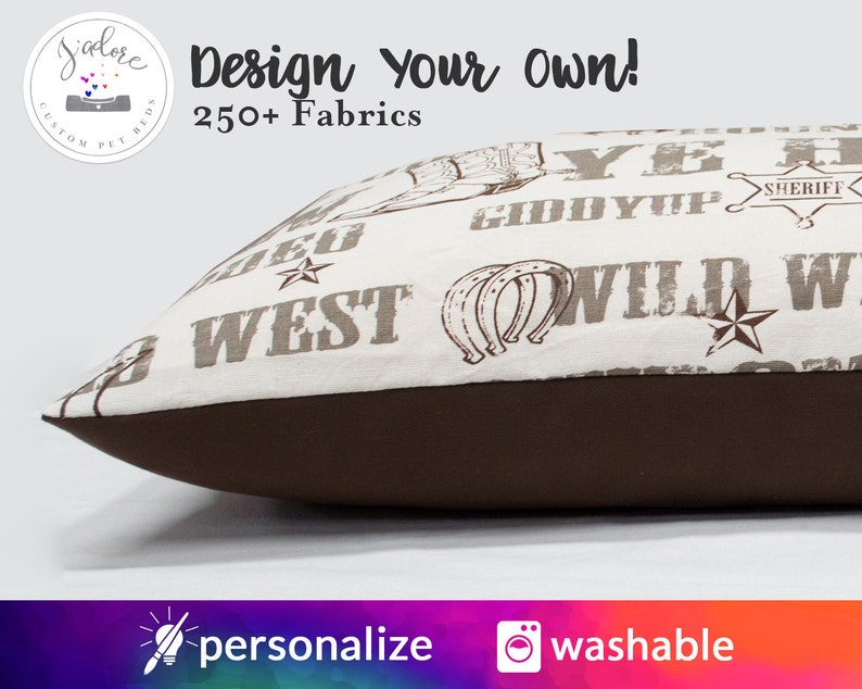 Pillow Cover Dog Bed with Embroidery  Made to Order Custom image 0