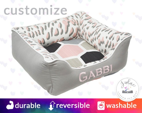 Awe Inspiring Blush Pink Dog Bed Or Cat Bed X Small To X Large Leopard Grey Black Personalized Geometric Washable Reversible Squirreltailoven Fun Painted Chair Ideas Images Squirreltailovenorg