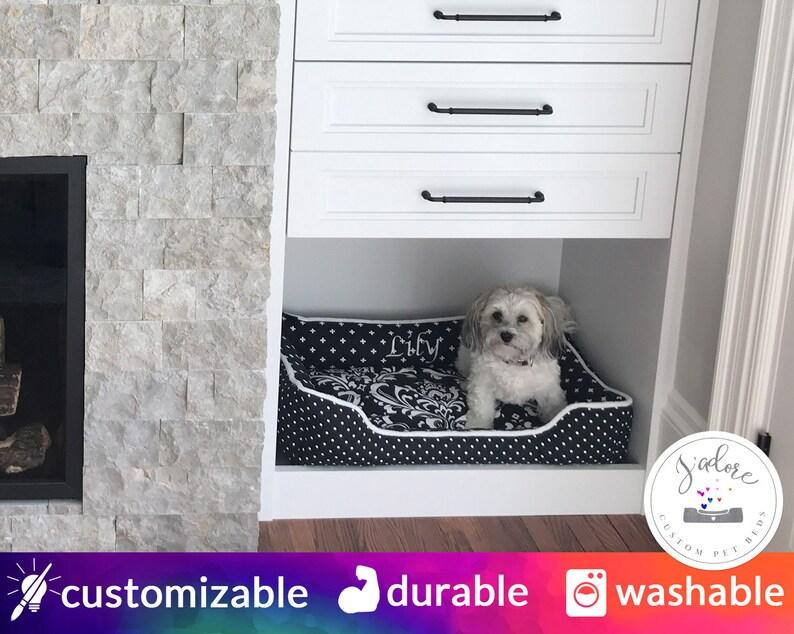 Custom Size Dog Bed  Made to order cabinet dog bed nook image 0