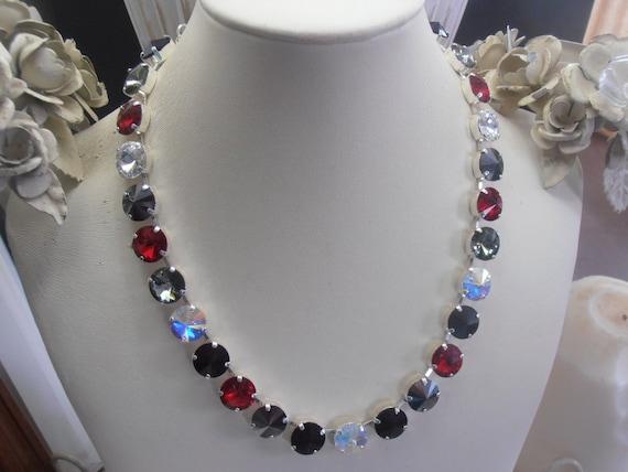 Red/Black Crystal Necklace w/ Swarovski • Anna Wintour Jewelry
