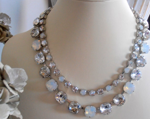 Swarovski Crystal Statement Necklace • Wedding and Bridal Jewelry