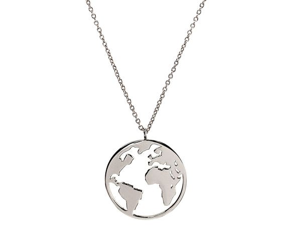 World Map Travel Necklace • Pendetif Carte Monde • wanderlust jewelry