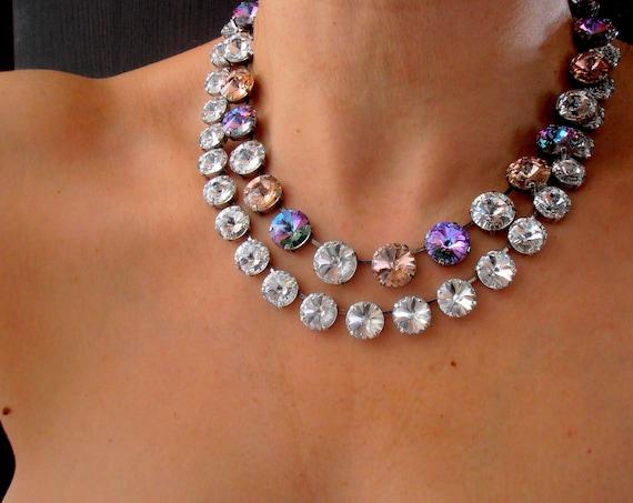 Anna Wintour Swarovski Crystal Necklace / Tennis Cupchain Choker