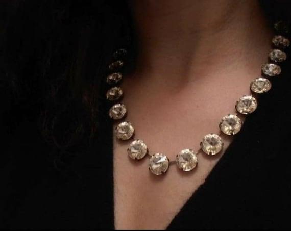 Champagne Choker Necklace w/ Swarovski Crystals • Anna Wintour Choker