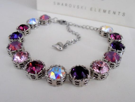 Handmade Art Deco Crystal Bracelet w/ Swarovski Crystals / Women Jewelry