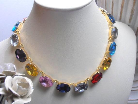 Riviere Swarovski Crystal Necklace / Anna Wintour 14K Gold Jewelry