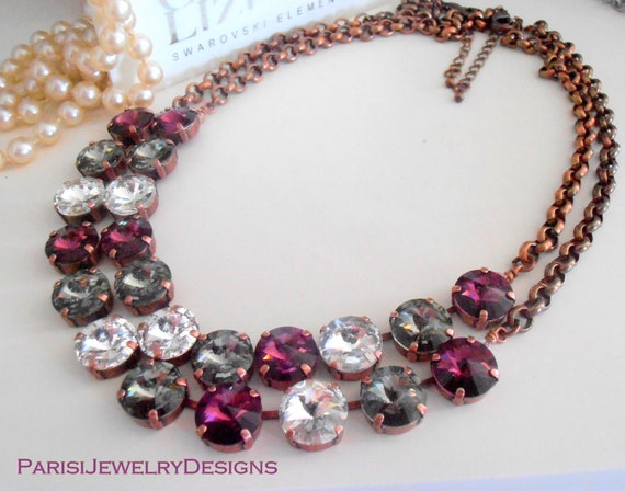 Anna Wintour Swarovski Rivoli Necklace / Crystal Choker / Jewelry Gift For Her