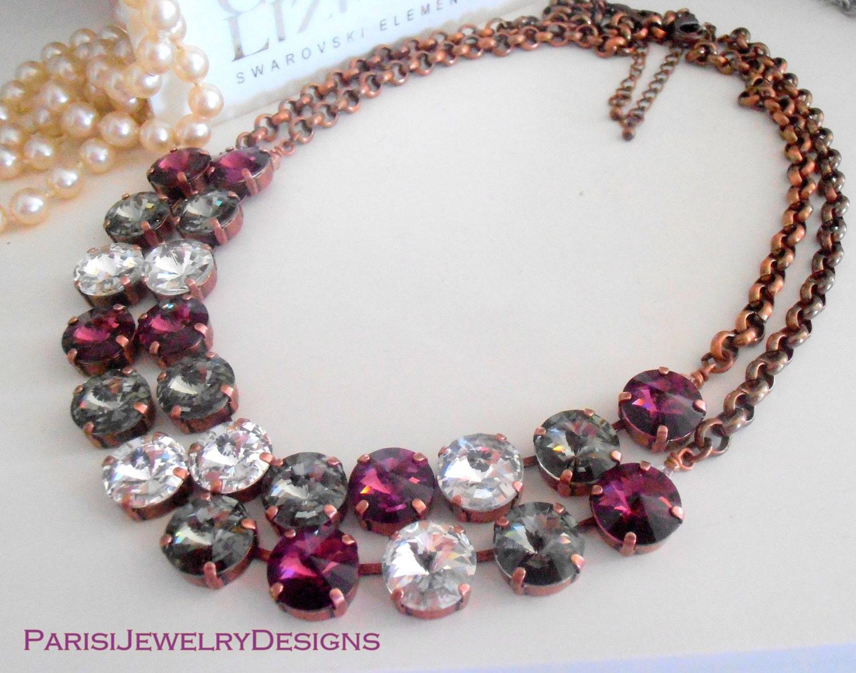 376304a7e7deb Swarovski Necklace / Anna Wintour / Crystal Choker / Tennis Necklace ...