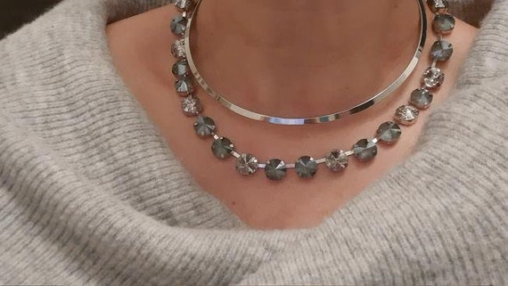Gray Swarovski® Necklace • Anna Wintour Choker