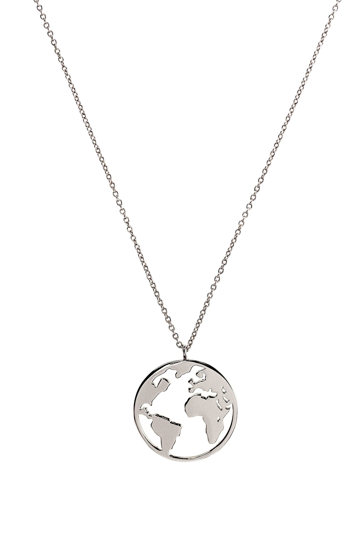 World map travel necklace pendetif carte monde wanderlust jewelry freerunsca Gallery