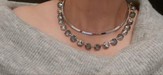 Gray Swarovski® Necklace • Anna Wintour Choker