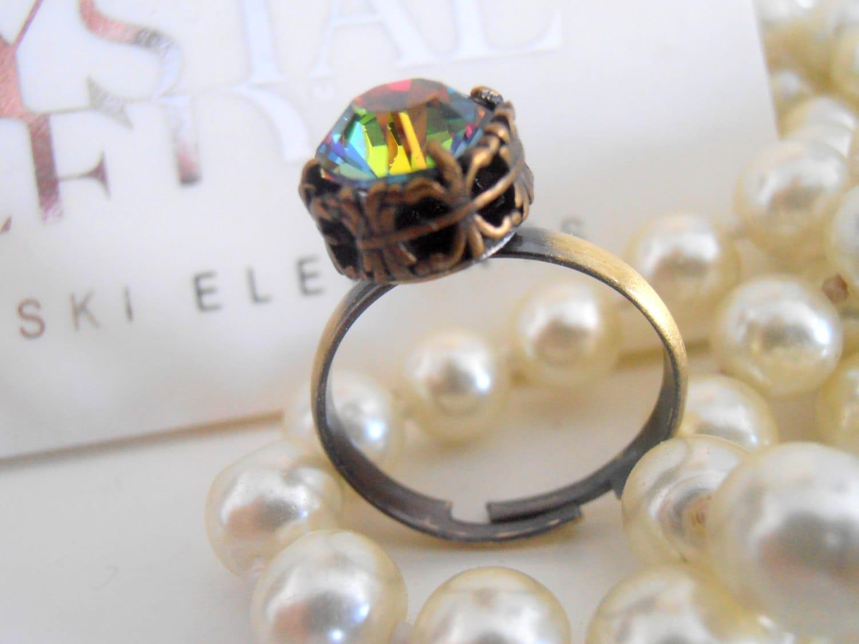 swarovski crystal ring vitrail medium stackable ring. Black Bedroom Furniture Sets. Home Design Ideas