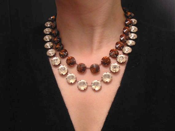 Rivoli Collet Necklace w/ Swarovski / Anna Wintour Choker / Statement Jewelry