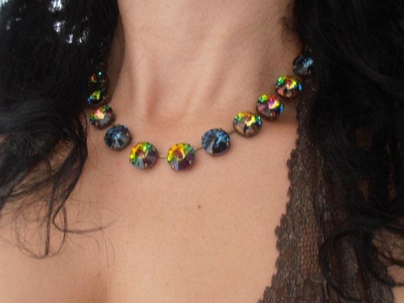 Medium Vitrail Anna Wintour Swarovski Necklace / Tennis Jewelry