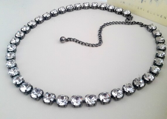 Graduate Diamond Cut Swarovski Necklace / Tennis Choker