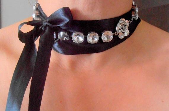 Rose Bud Crystal Choker w/ Swarovski • Bridal Jewelry