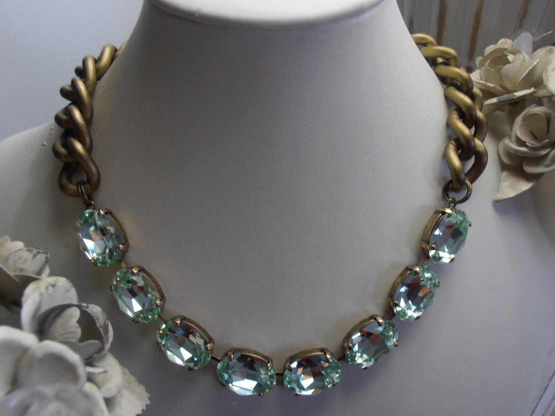 Anna Wintour Collet Necklace Swarovski Crystal Necklace