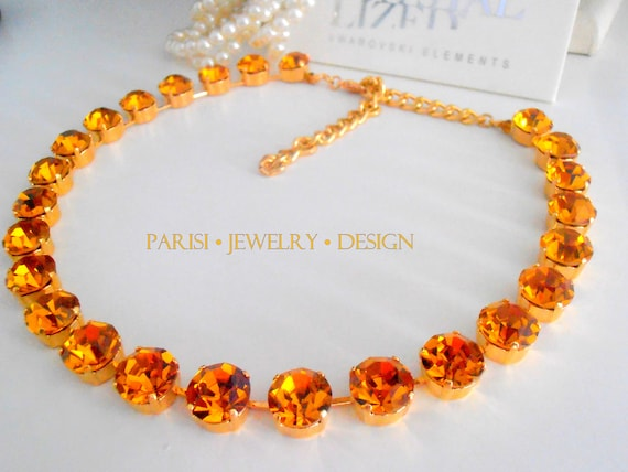 Topaz Swarovski Crystal Layered Necklace