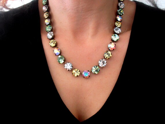 Swarovski Crystal Necklace • Cupchain Tennis • SS47 Choker • Long Necklace • Christmas Gift