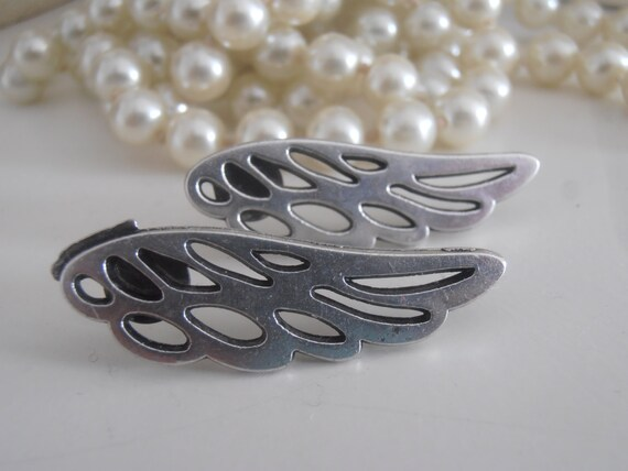 Angel Wings Ear Climbers / Goth Ear Crawlers • Cuff Earrings • Valentines Day Gift