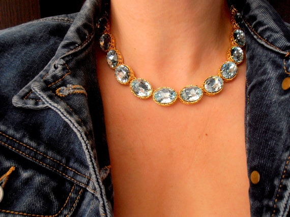 Anna Wintour Riviere Swarovski Crystal Necklace / Georgian Choker
