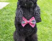 NEW Pink Tartan Dog Bow T...