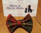 Berry Tweed Dog Bow Tie, ...