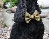NEW Tweed Dog Bow Tie, Me...