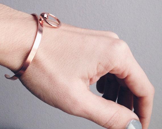 Rose gold bracelet,rose gold cuff bracelet,silver 925 bracelet,simple bracelet,minimalist bracelet,geometric bracelet,gold filled bracelet