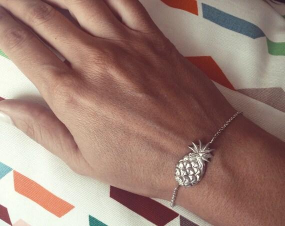 Pineaplle bracelet,silver 925 bracelet,sterling silver bracelet,summer bracelet,silver pineapple bracelet,solid silver bracelet