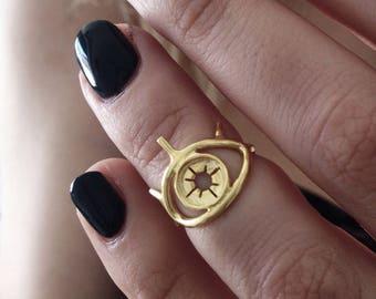 eye ring,silver ring,dainty ring,gold filled ring,stacking ring,midi ring,evil eye ring,thin ring,pinky finger ring,boho ring,gold ring
