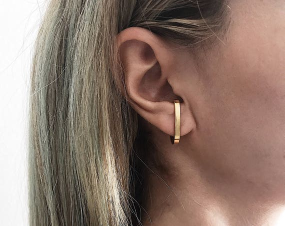 Simple gold ear cuffs