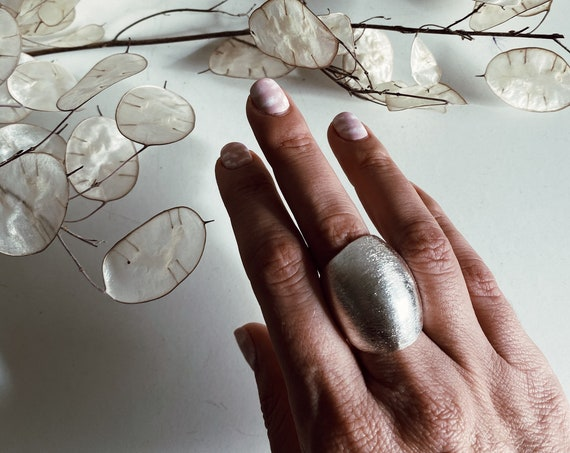 Silver chunky Ring